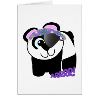 Cute Goofkins pirate panda Card
