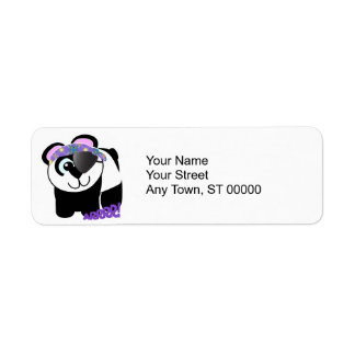 Cute Goofkins pirate panda Label