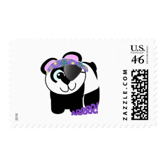 Cute Goofkins pirate panda Postage