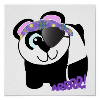 Cute Goofkins pirate panda Print