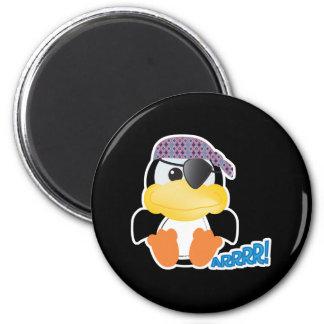 Cute Goofkins pirate penguin 2 Inch Round Magnet