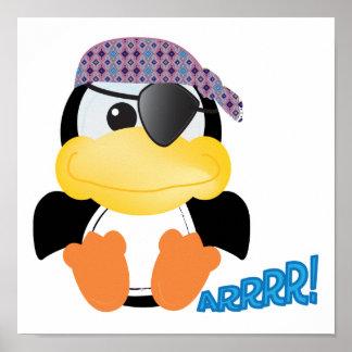 Cute Goofkins pirate penguin Poster