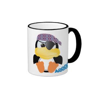 Cute Goofkins pirate penguin Ringer Mug
