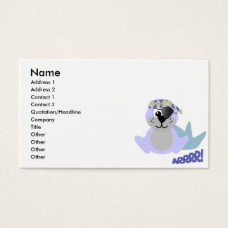 Cute Goofkins pirate seal Business Card