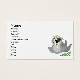 Cute Goofkins pirate walrus Business Card