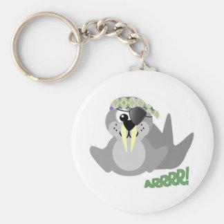 Cute Goofkins pirate walrus Keychain