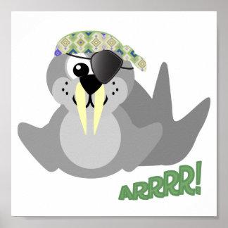 Cute Goofkins pirate walrus Poster