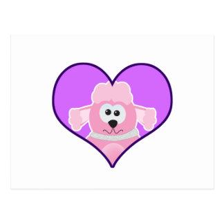 Cute Goofkins poodle heart Postcard