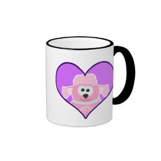 Cute Goofkins poodle heart Ringer Coffee Mug