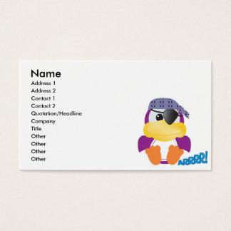 Cute Goofkins purple pirate ducky Business Card