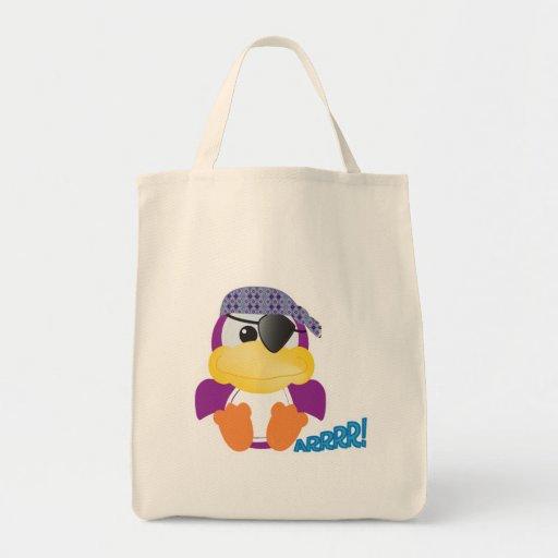 Cute Goofkins purple pirate ducky Canvas Bag