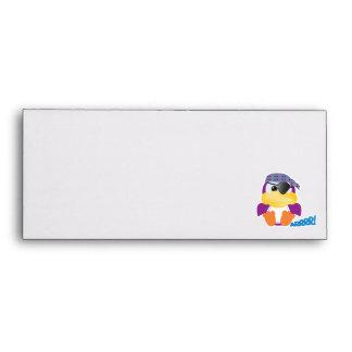 Cute Goofkins purple pirate ducky Envelopes