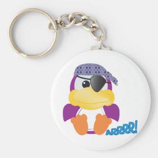 Cute Goofkins purple pirate ducky Key Chain