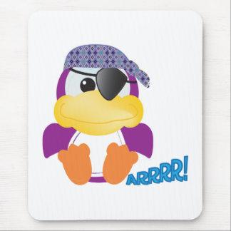 Cute Goofkins  purple pirate ducky Mouse Pad