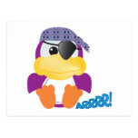 Cute Goofkins purple pirate ducky Postcards