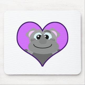 Cute Goofkins rhino heart Mouse Pad