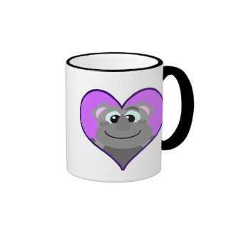 Cute Goofkins rhino heart Ringer Coffee Mug