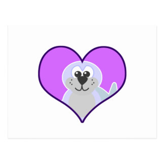 Cute Goofkins seal heart Postcard