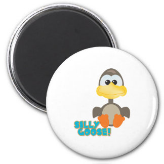 Cute Goofkins silly goose 2 Inch Round Magnet