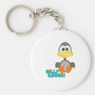 Cute Goofkins silly goose Basic Round Button Keychain