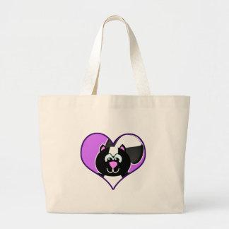Cute Goofkins skunk heart Bags