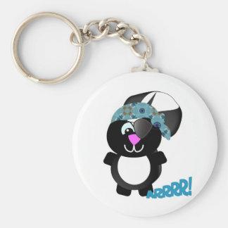 Cute Goofkins skunk pirate Keychain