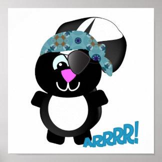 Cute Goofkins skunk pirate Poster