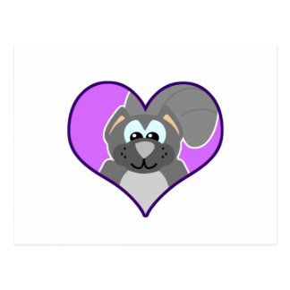 Cute Goofkins squirrel heart Postcard