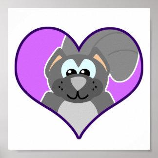 Cute Goofkins squirrel heart Posters