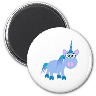 Cute Goofkins unicorn 2 Inch Round Magnet
