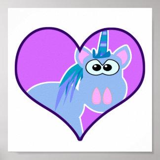 Cute Goofkins unicorn heart Posters