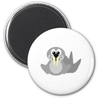 Cute Goofkins walrus 2 Inch Round Magnet