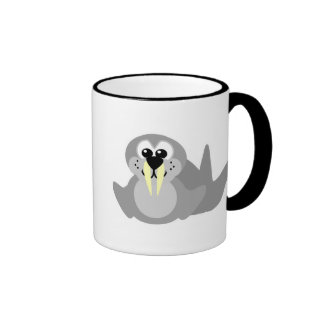Cute Goofkins walrus Ringer Coffee Mug
