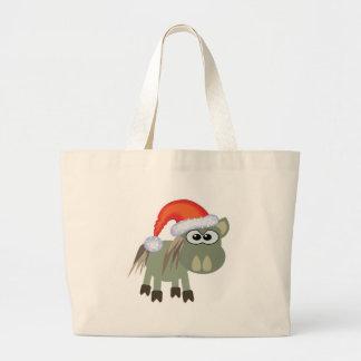 Cute Goofkins Xmas donkey santa Canvas Bags