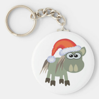 Cute Goofkins Xmas donkey santa Keychain