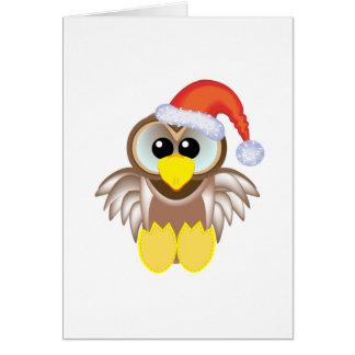 Cute Goofkins Xmas owl santa Card