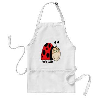 cute goofy cartoon grinning little ladybug adult apron