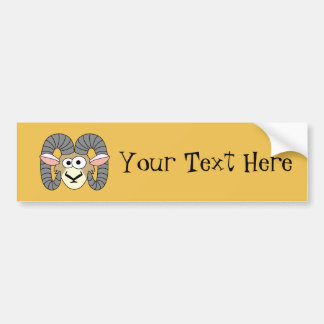 Cute Goofy Ram Sheep Bumper Sticker