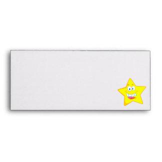 cute goofy star cartoon smiley envelope