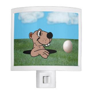 Cute Gopher & Golf Ball on Night Light