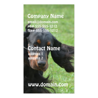 Cute Gordon Setter Business Card Templates