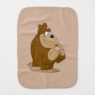 Cute gorilla baby burp cloth