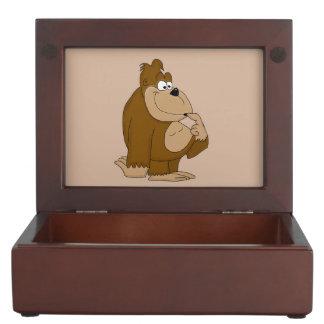Cute gorilla keepsake box