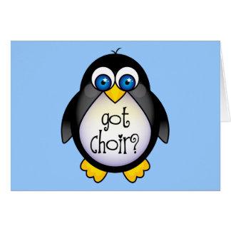 Cute Got Choir Penguin Gift Greeting Card