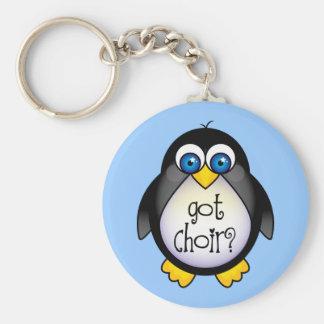 Cute Got Choir Penguin Gift Basic Round Button Keychain