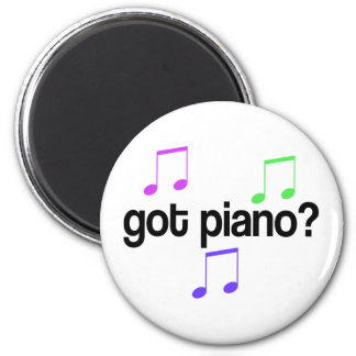 Cute Got Piano Music Gift 2 Inch Round Magnet