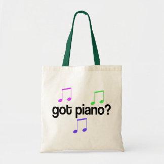 Cute Got Piano Music Gift Budget Tote Bag