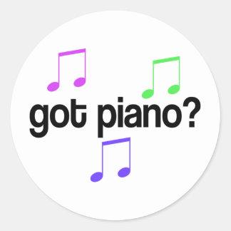 Cute Got Piano Music Gift Round Sticker
