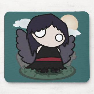 Cute Goth Angel Mouse Pad