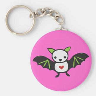 Cute Goth Bat Keychain